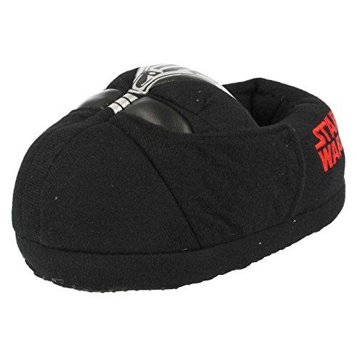 Pantofole per ragazzi con personaggio darth vader di star wars, nero (black), 28 eu bambino
