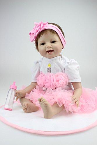 NPK 22inch 55CM pas cher reborn bébé fille poupee Doux...