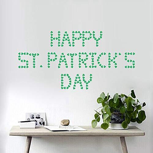 wassaw Irish Clover Sticker St. Patricks Day Glas Sticker Einfache wasserdichte Abnehmbare Sportlandschaft Pflanzen