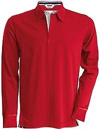 Kariban Vintage Herren Longsleeve / Rugby-Shirt / Polo-Shirt, Langarm