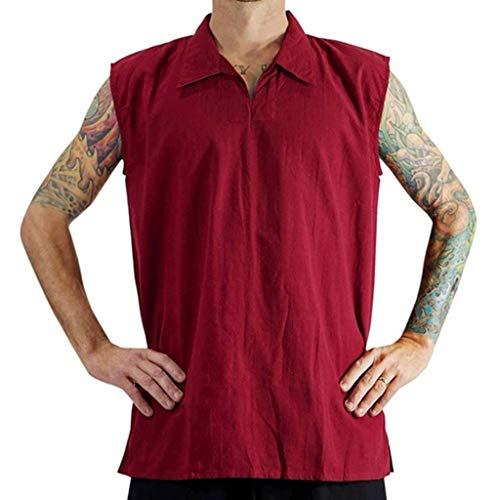 OGGI-T-shirt Maglietta da Uomo Estate Comodo Sportivo T-Shirt Camicia Manica Corta da Spiaggia Spiaggia Vacanza Polo Traspiranti Sportivo T-Shirt Fresco e Traspirante Scollo a V Biancheria