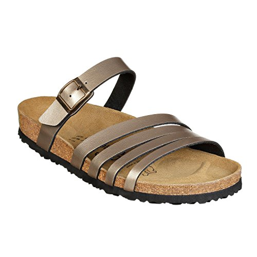 JOE N JOYCE Rome SynSoft sandales étroit Metallic Sand