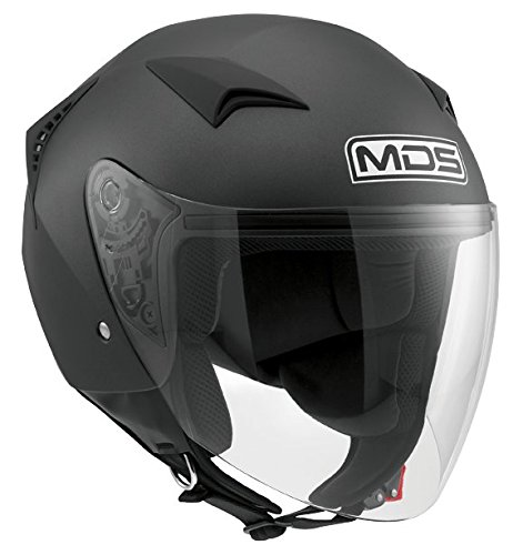 MDS Casco Moto G240 E2205 Solid, Flat Black, M