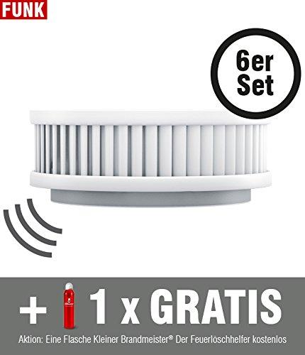 Gateway-seriennummer (6-er Set Funk-Rauchmelder Kleiner Brandmeister Pyrexx PX-1C inkl. 1x Feuerlöschspray, 10-Jahres-Batterie, Befestigung mit Magnet, Wartungs-App, Funkmodul, Smarthome Made in Germany)