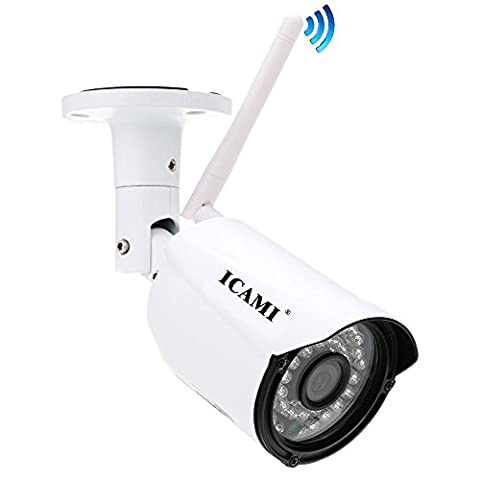 ICAMI HD 720P Security Camera Wireless Home Surveillance System Wifi IP Camera Outdoor Waterproof with Night