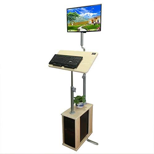 Zhuozi FUFU Tische Verstellbare Laptop Ständer Laptop Tablett mit Mauspad, Laptop Tisch, Holz Farbe Drop-Blatt-Tabelle - Klammern Schreiben Auf Blatt Auf Sie