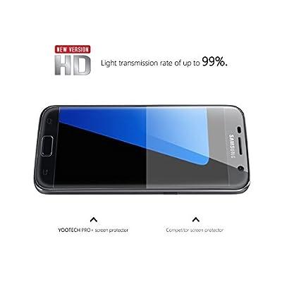 Galaxy S7 Schutzfolie [Vollständige Abdeckung], Yootech [3 Pack ] [Blasenfreie][Klar HD Ultra] [Anti-Kratz] Anti-Fingerabdruck Displayschutzfolie Displayschutz Screen Protector Für Samsung Galaxy S7 [ Lebenslange Garantie]