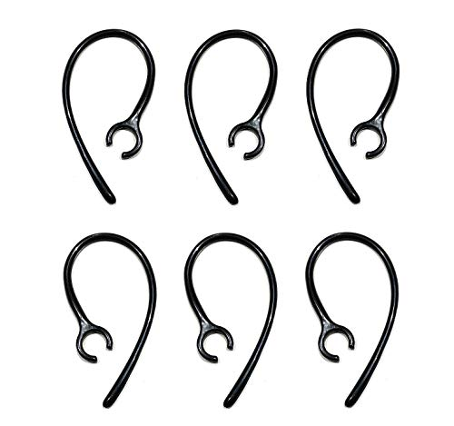 6 pcs (SK-CHP) Replacement Set Earhooks Earloops for Rocketfish EX7, RF-EX7 Bluetooth Headsets -