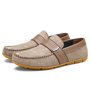 Chaussures d'hommes et de l'emploi de bureau/Trotteurs en cuir décontracté kaki/Bourgogne Le kaki