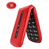 Ushining Unlocked Flip Mobile Phone for Seniors with SOS Big Button on The