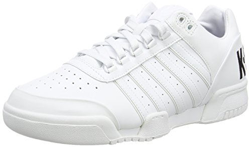 K-Swiss Gstaad Big Logo, Baskets Basses Homme Blanc - White (White/