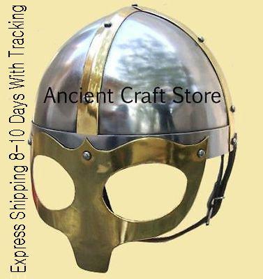 Kostüm Deluxe Viking - Maske Deluxe Viking Helmet (inkl. Ständer, Polster und Gurt)