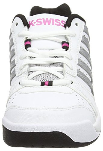 K-Swiss Vendy II Omni, Chaussures de Tennis femme Blanc - White (White/Black/Silver/Veryberry 190)