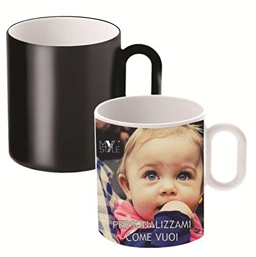 My Custom Style® tazza magica in ceramica personalizzabile con foto e testi. Tazza magica Mug che cambia colore col calore, originale come idea regalo.