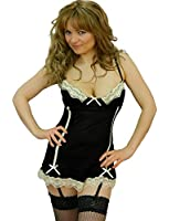 Yummy Bee Babydoll Lingerie Lace Satin Nightwear Suspender Dress G String Set Plus Size 6 - 24