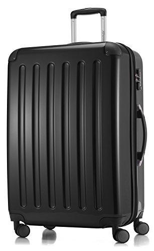 HAUPTSTADTKOFFER - Alex - Bagage Rigide extensible, Valise Grande Taille, Trolley avec 4 Roues multidirectionnelles, TSA, 75 cm, 119 litres, Noir