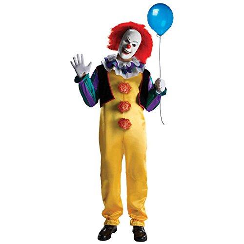 MyPartyShirt 'Pennywise T Erwachsene Kostüm ES Tanzen Horror Film, Clown Scary Evil Stephen King, 18-02-05-02, gelb, Adult Extra - Extra Scary Kostüm