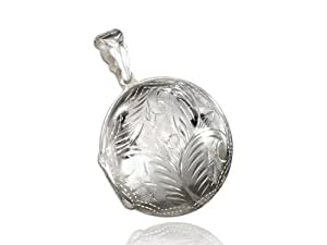 Silver In Paris - Pendentif porte photo rond de 3.7cm en argent massif