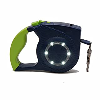 JADIS-SMART Pet Traction Rope Automatic,One Button Break & Lock, Dog Leash Retractable with LED