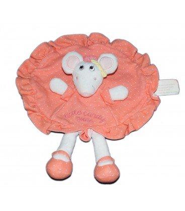 Doudou plat rond souris Brioche Little Candy Mouse La