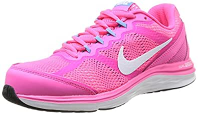 Nike Nike Dual Fusion Run 3, Womens Running Shoes, Multicolour (Hyper Pink/White/Unvrsty Blue), 4 UK