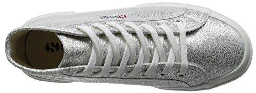Sneakers Superga in tessuto satinato argento Silver