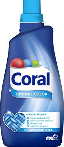 Coral flüssig Feinwaschmittel Optimal Color 40 WL 2er Pack (2 x 20 WL)