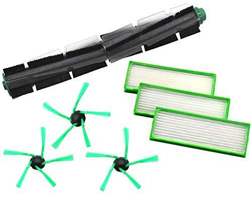 1 Rundbürste 3 Seitenbürsten 3 Filter geeignet für Vorwerk VR200 VR 200