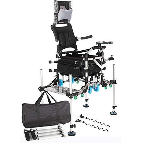 PEBAR Multifunktional Campingstuhl mit Angelstuhl hoher Rückenlehne Atmungsaktiver Netzstoffrückenlehne,komfortabel Robustes Gestel