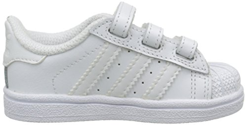 adidas - Superstar Foundation, Senakers a collo basso infantile Bianco (bianco)