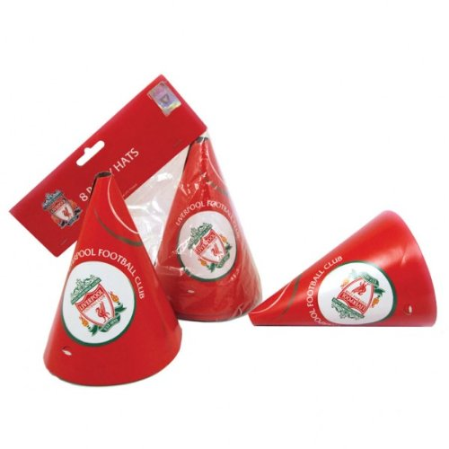 Liverpool Football Club Party Hats x 8