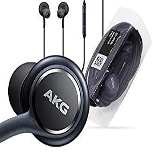 Royjeez AKG Earphones Headphones Headset Hands Free with Mic and in-Line Remote for Samsung Galaxy Note 5, Note 8, Note 9, S6, S6 Active, S6 Edge, S6 Edge Plus, S7, S7 Active, S7 Edge Black