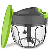 Home Puff Plastic 3 Blade Vegetable Chopper and Cutter with Storage Lid, 400 ml