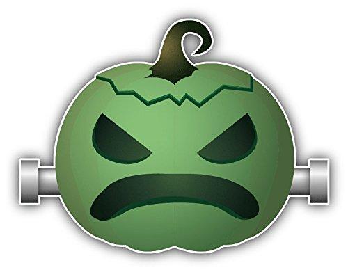 Pumpkin Smile Halloween Frankenstein Hochwertigen Auto-Autoaufkleber 12 x 10 cm