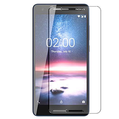 Conie 9H2478 9H Panzerfolie Kompatibel mit Nokia 2.1, Panzerglas Glasfolie 9H Anti Öl Anti Fingerprint Schutzfolie für Nokia 2.1 Folie HD Clear