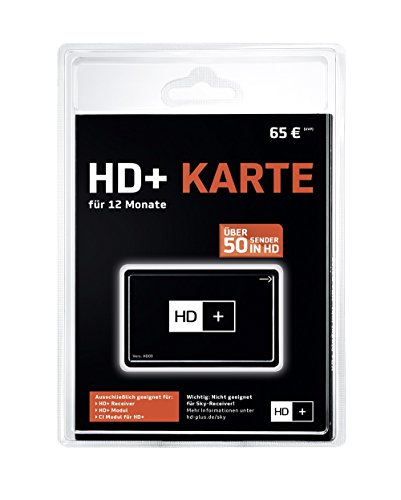 Unbekannt HD+ - Módulo de televisión de pago (12 meses), negro