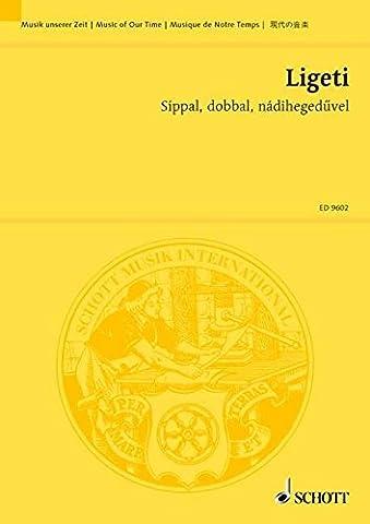 SCHOTT LIGETI GYORGY - SIPPAL, DOBBAL, NADIHEGEDUVEL - MEZZO-SOPRANO AND 4 PERCUSSIONR Classical sheets Pocket