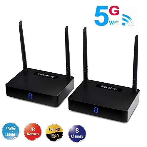 Wireless HDMI Sender Measy HD585 Extender/Adapter/Dongle Transmitter and Receiver 1150ft/350m with IR Remote