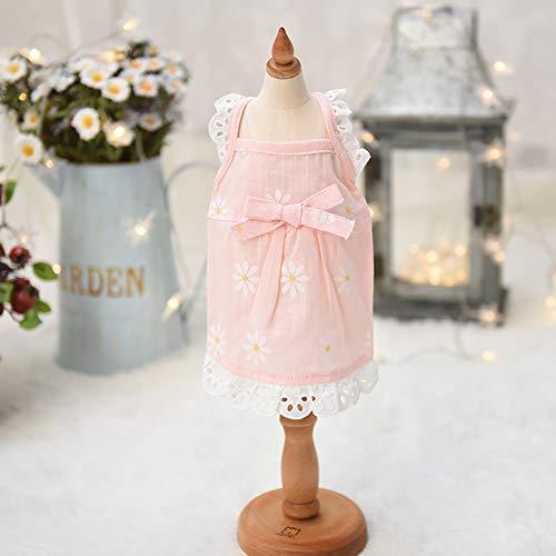 Pet Hochzeitskleid, Pet Kleidung Tutu Shirts Lace Design, Baumwollmaterial Weich und komfortabel...