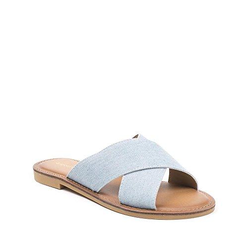 Sapatos Ideais, Senhoras Céu Trenner Toe Azul