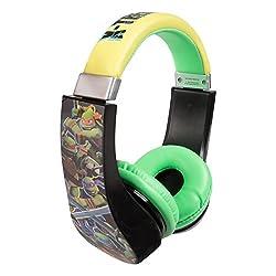 Teenage Mutant Ninja Turtles Kid Safe Over the Ear Headphone w/ Volume Limiter (30365)