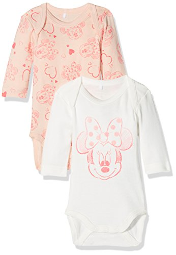 NAME IT Baby-Mädchen Body NMFMINNIE 2P Sanny LS WDI NOOS, 2er Pack, Mehrfarbig Peachy Keen, 92