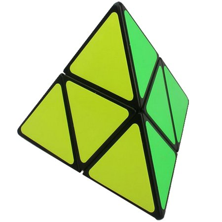 FUNS 2x2x2 Pyraminx Twisty Pyramid 2 Layer Speed Cube Puzzle Black