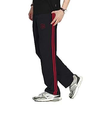 Duke Men's Cotton Track Pants (8907289708592_18000_Small_Black)