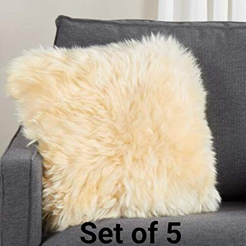 Aaradhya Rabbit Fur Cushion Cover (16x16 Inches)