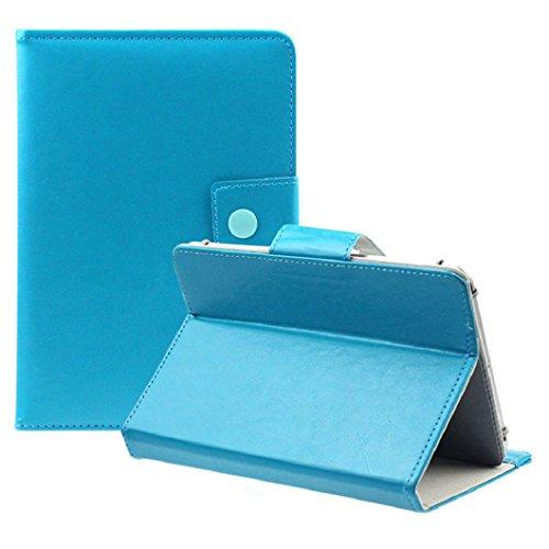 Ularma Universel luxe cristal PU cuir Stand housse Pour 9 pouces tablette PC Android (Bleu ciel)