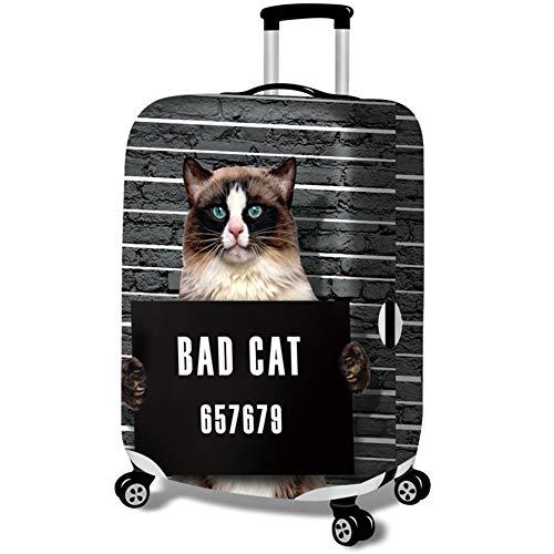 MISSMAO_FASHION2019 Elastisch Kofferhülle Kofferschutzhülle Gepäck Cover Reisekoffer Hülle Kofferschutz mit Reißverschluss Katze Serie Style2 XL(Fit 29-32 Zoll Koffer)