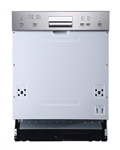 Bomann GSPE 882 teilintegrierbarer Einbau-Geschirrspüler, Energieklasse A+, Edelstahl, 60 cm, 12 Maßgedecke