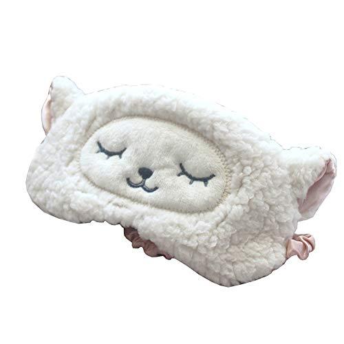 maske Cute Schafe Muster Reisen Augenmaske Mädchen Plüsch Schlafmaske Reisen Schlaf Augenmaske Paar Maske 19.5 * 7CM ()