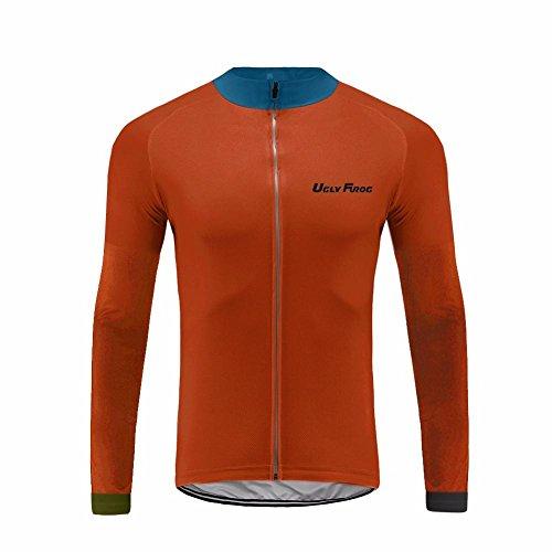 Uglyfrog UFDSJJK41 2019 MTB Winterbekleidung Herren Männer Radfahren Langarm Radfahren Jersey Winter with Fleece eine Menge Farben Antislip Ärmel Cuff Road Bike MTB Top Riding Shirt